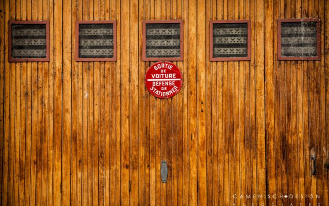 Garage Door - Paris, France - Copyright 2016 Camenisch Design Associates