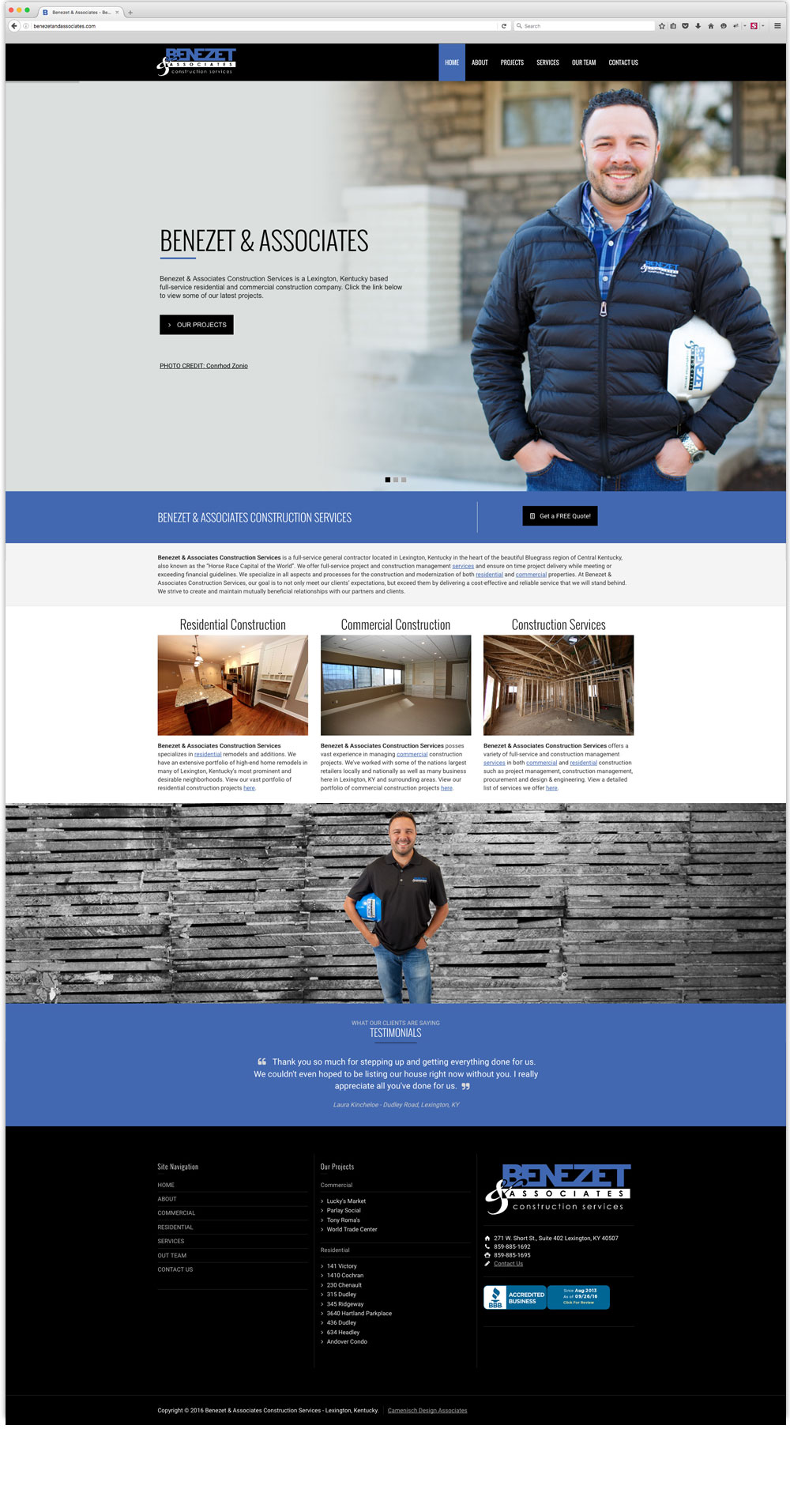 Benezet & Associates website design