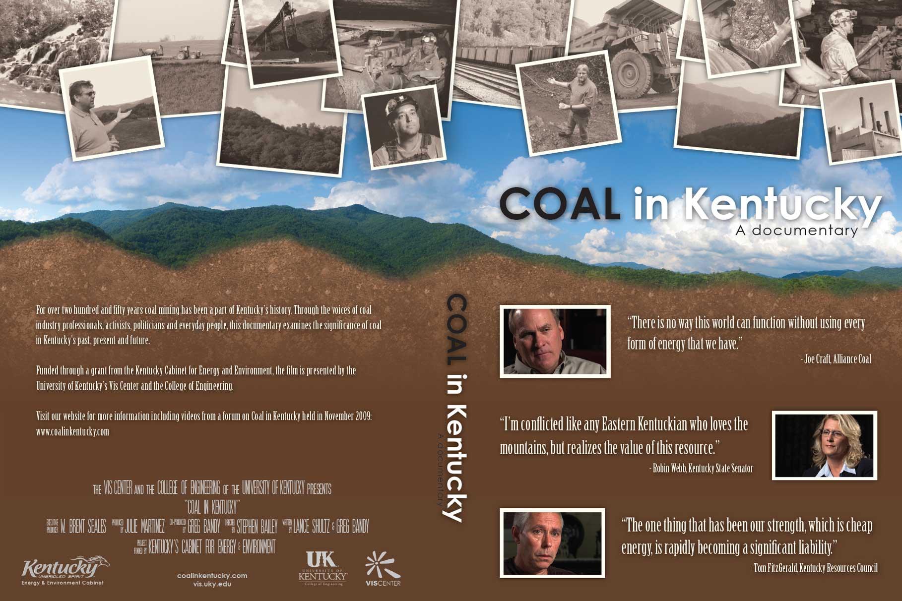 Coal in Kentucky DVD wrapper - print design