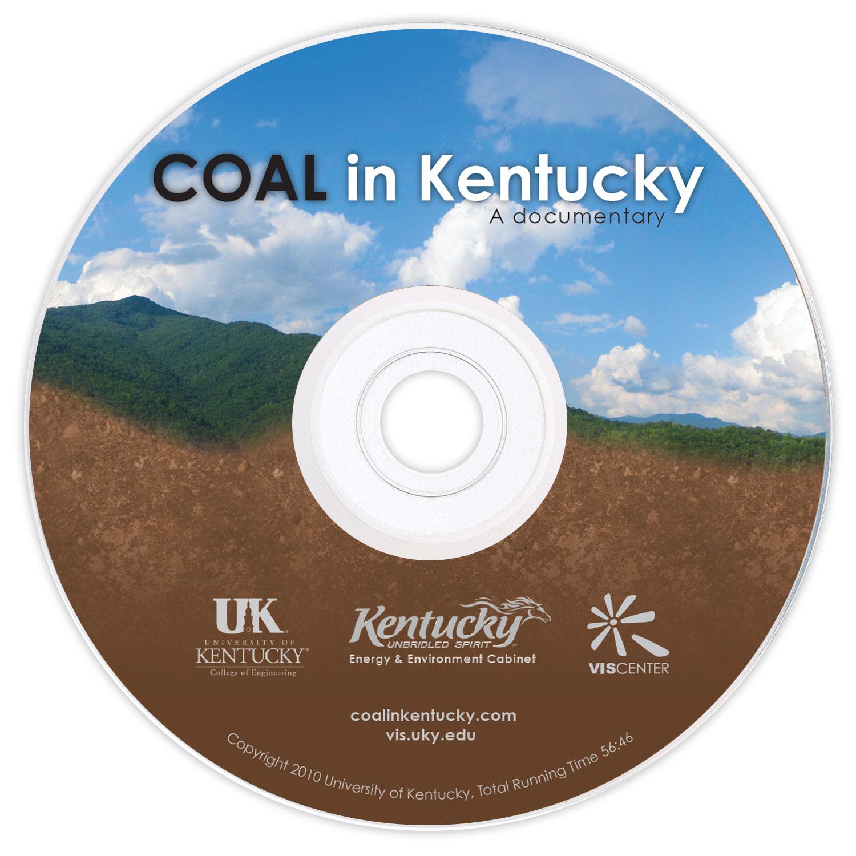 Coal in Kentucky DVD - print design