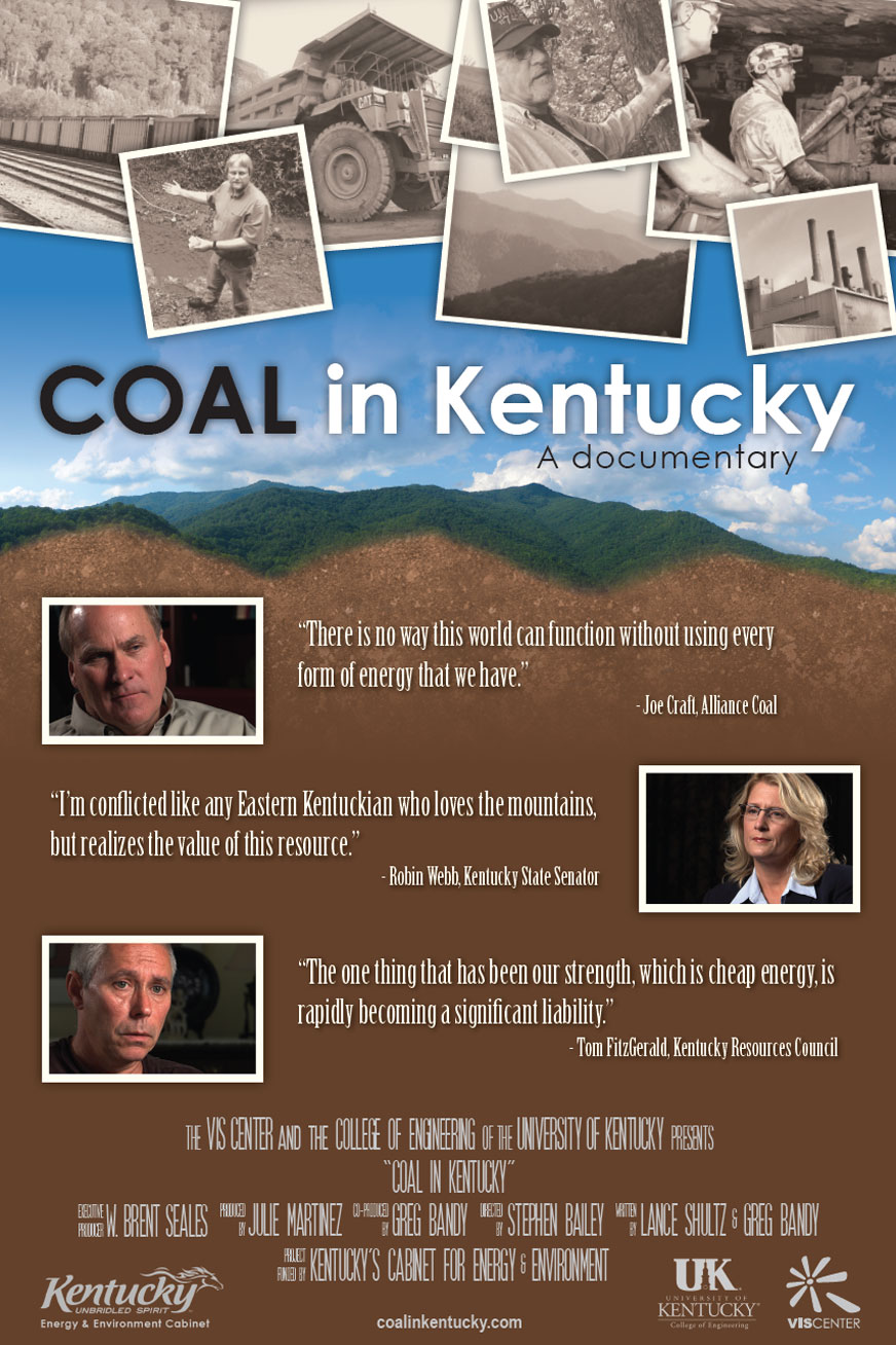 Coal in Kentucky movie poster - print design