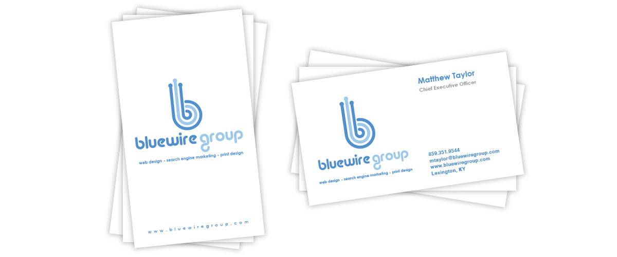 Bluewire Group business card design
