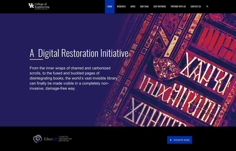 Digital Restoration Initiative - Website Design