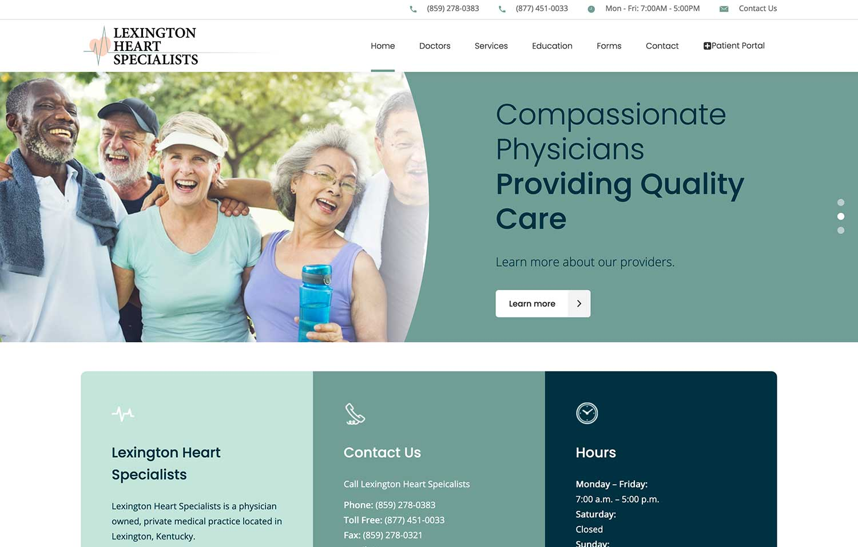 Lexington Heart Specialists - Website Design