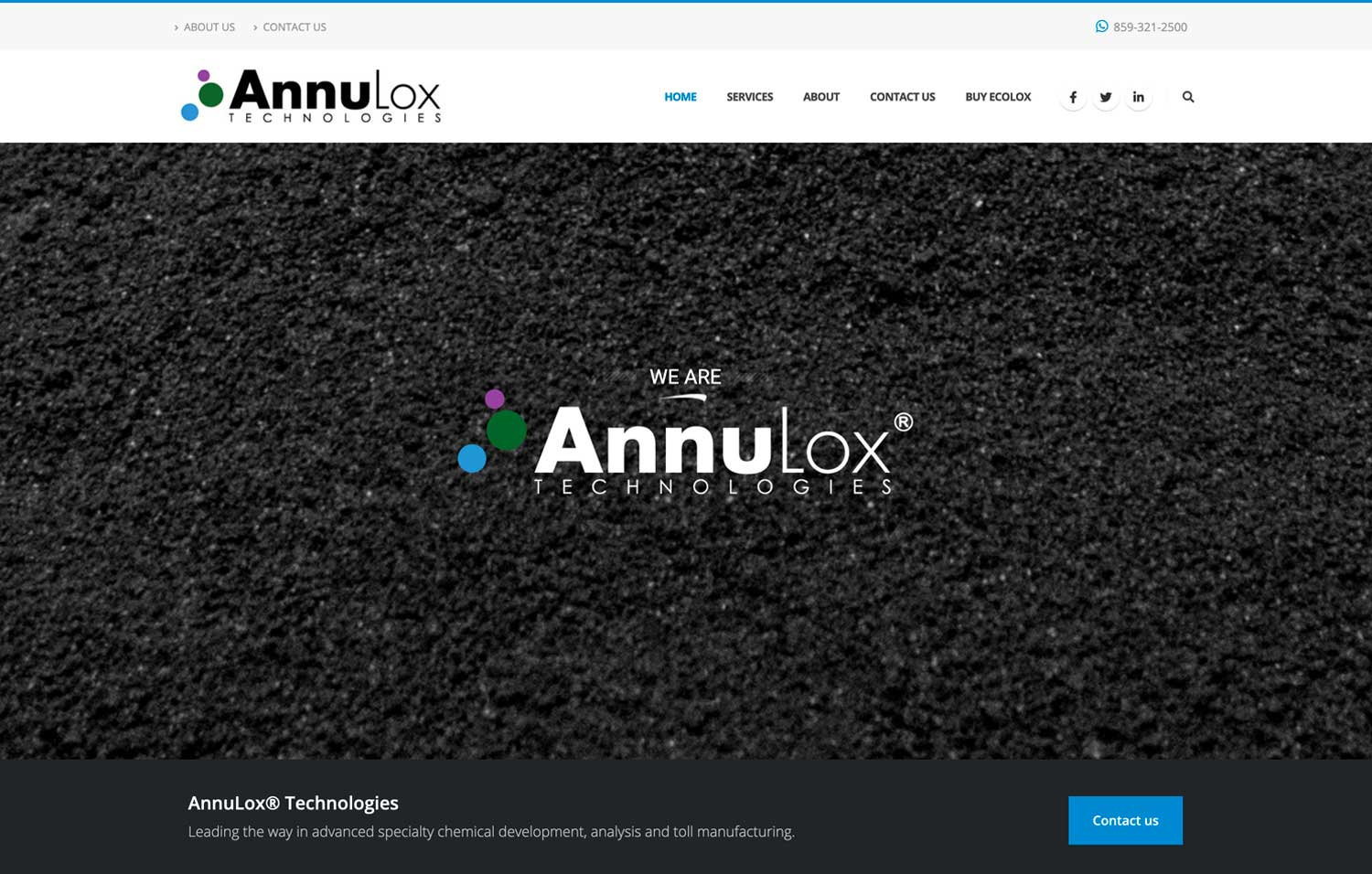 AnnuLox Technologies Header - Website Design