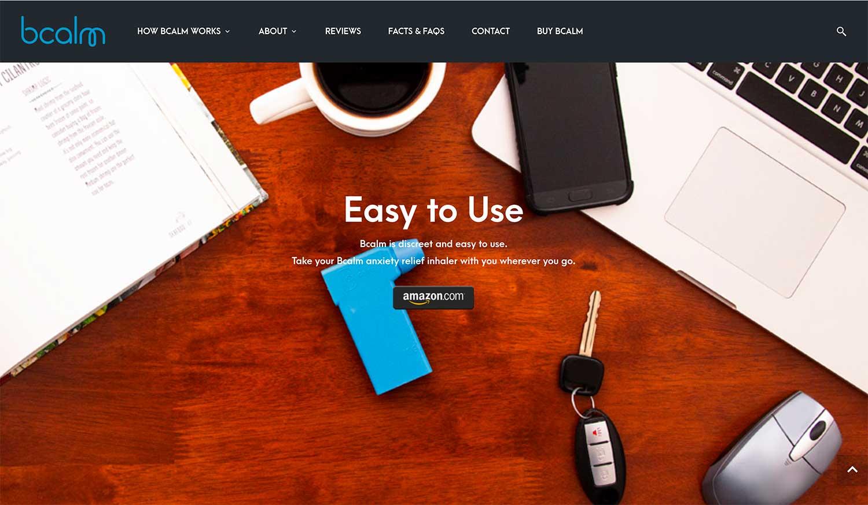 Bcalm.us Product Photo - Website Design
