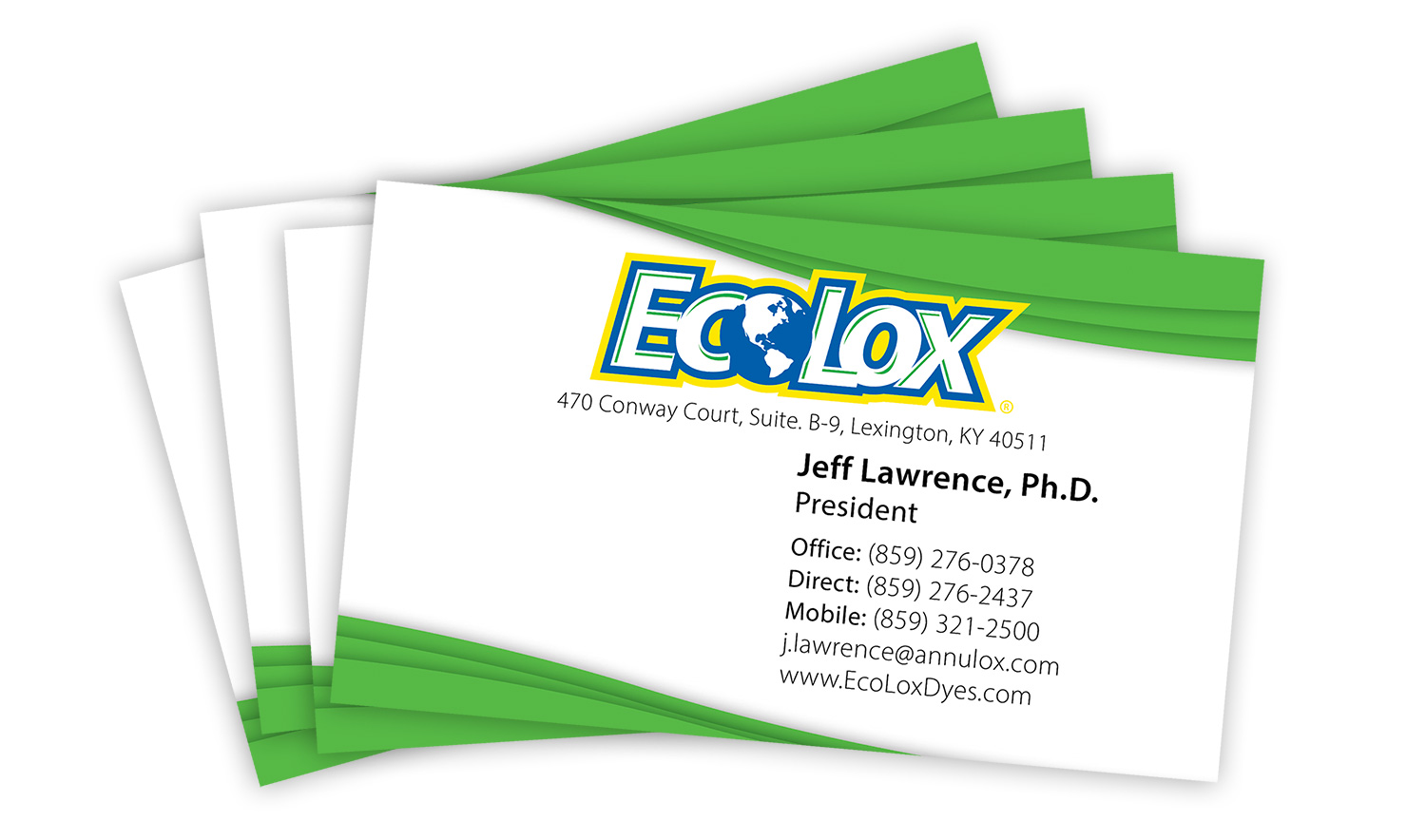 EcoLox Dyes - Business Card Design