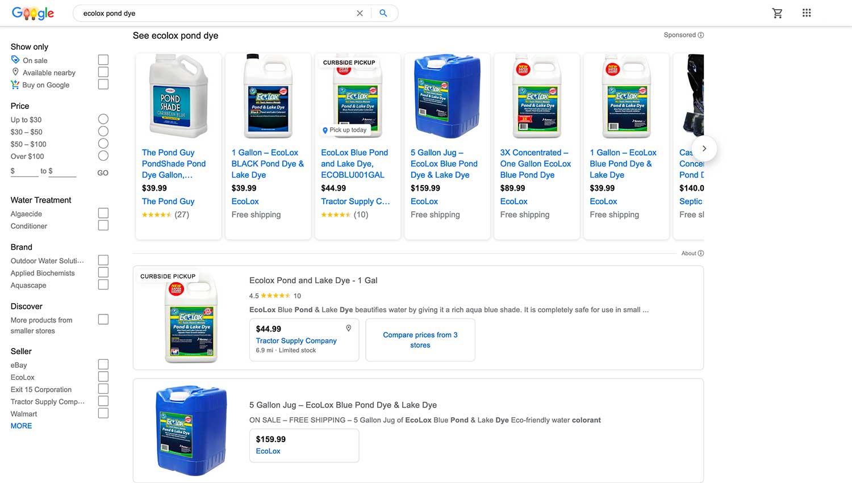 EcoLox Dyes on Google - Internet Marketing