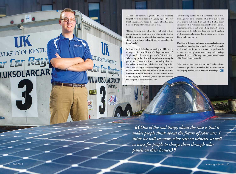 KEJ Solar Car Spread - Fall 2015