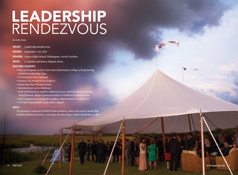 KEJ Leadership Rendezvous Spread - Fall 2017